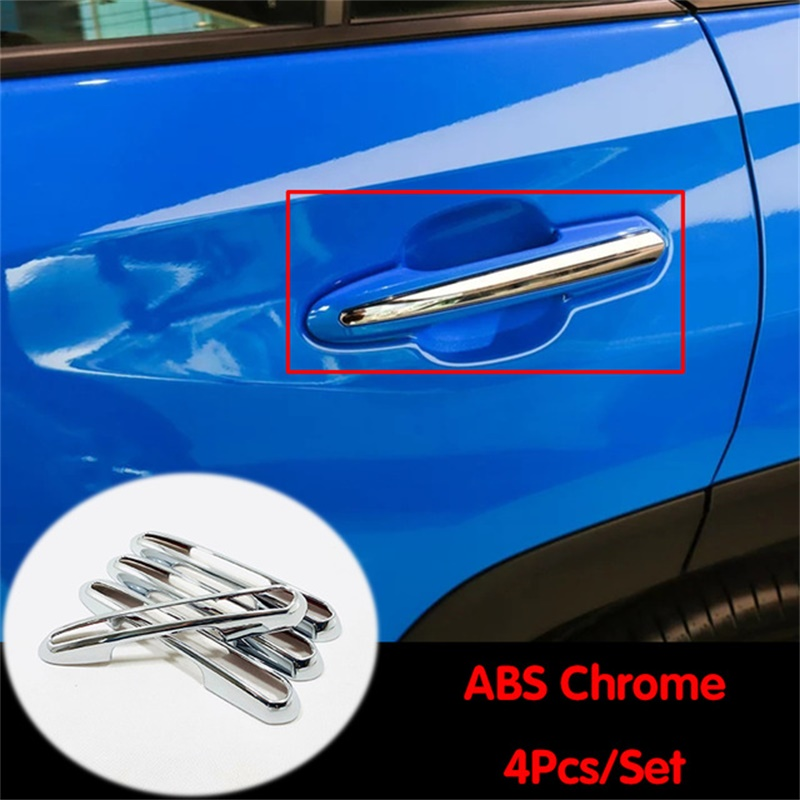 Car Door Handle Cover,Carbon Fiber Decorative Trim Door Handle Protector Sticker for Model X 4 of set