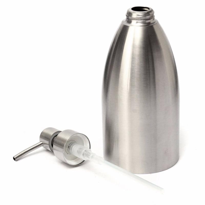 500ml Hand Pump Bathroom Hotel Liquid Soap Dispenser High Quality Stainless Steel Sanitizer