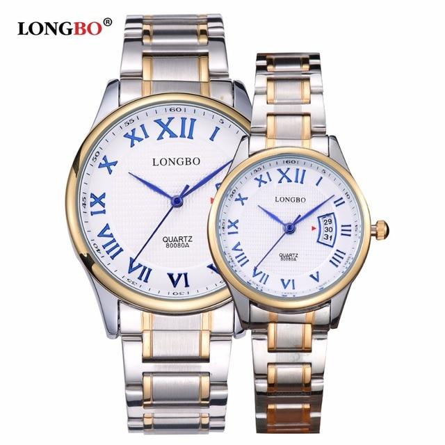 LONGBO Luxury Brand Men Business Watches High Quality Male 3ATM Waterproof Casual Quartz Clock Wristwatch Relojes Hombre 2017