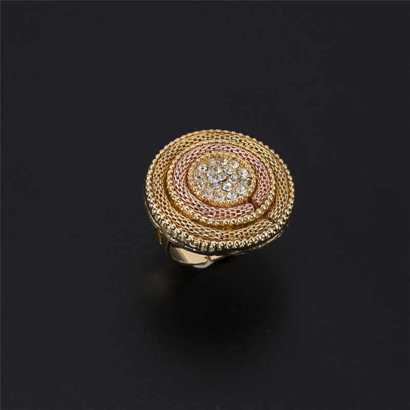 MUKUN moda afryki koraliki zestaw biżuterii wykwintne okrągły dubaj kryształ w złotym kolorze biżuteria ustaw nigeryjczyk ślub dla nowożeńców Bijoux