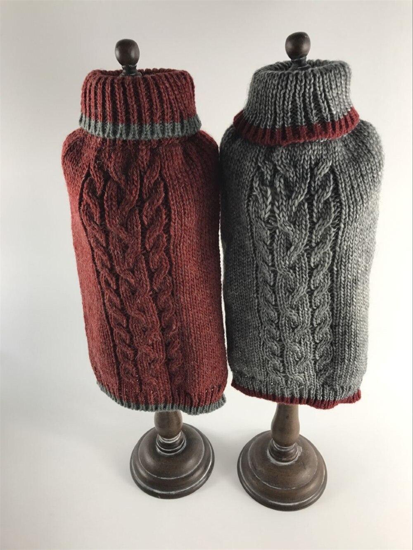 HELLOMOON pet sweater handmade dog sweaters Red wine