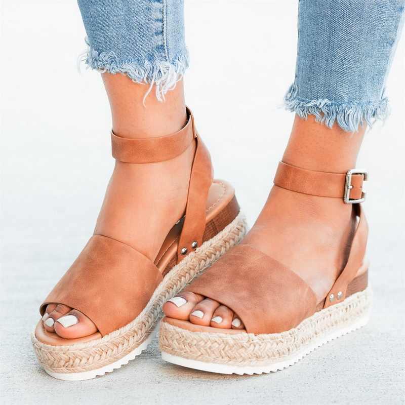 Sandalen Frauen Keile Sommer Schuhe Pumps High Heels Sandalen 2019 Flop Chaussures Femme Plattform Sandalen Sandalia Feminina