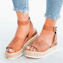 efa88ca365484 Sandales femmes compensées Chaussures d été escarpins talons hauts sandales  2019 tongs Chaussures Femme plate