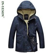 New 4XL Winter Men's Parka Military Style Windproof Thermal Fleece Men's Winter Jacket Brand Overcoat Men casacos masculino