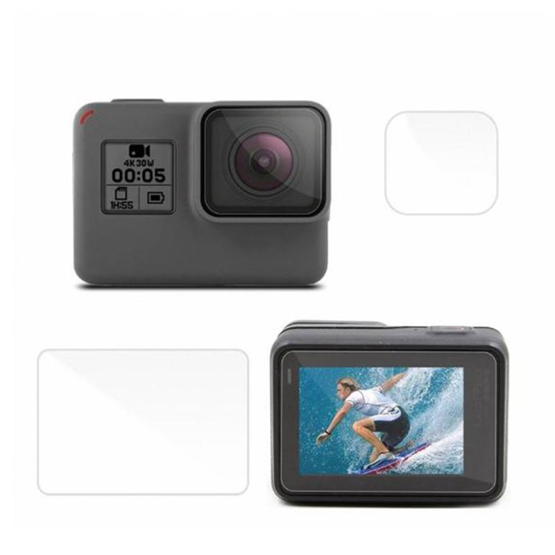 Camera Ultra Clear LCD Screen Protector + Waterproof Housing Lens Protector Film for GoPro Hero 4 Session/ 5 Session Cameras