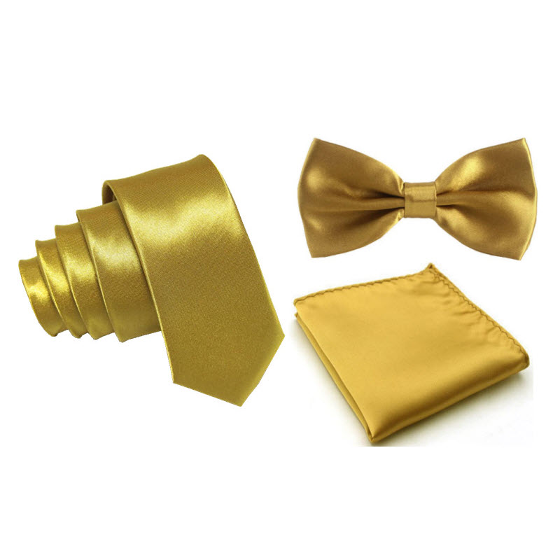Bronze Accessories Gold Tie Boys Slim Ties Boys Bronze Ties Elasticated Tie