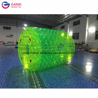 Hot product 2.4x2.2m roller ball inflatable pool water walking ball for kids