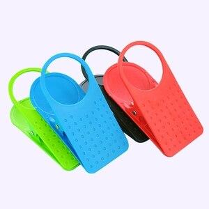 Image 2 - ファッションカップコーヒードリンクホルダー車のオーガナイザークリップ使用ホームオフィスデスクテーブル車のインテリアアクセサリーランダムな色