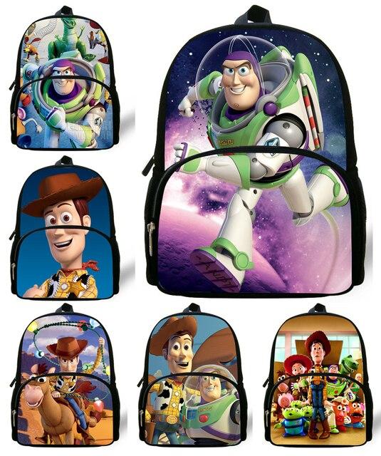 12inch mochila Toy Story Backpack children school bags for boys bag kids  girls mini Cute Cartoon Buzz Lightyear Bag kindergarten 30586b9f4fc78