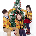 Family clothing fall winter Christmas striped swearters matching family outfits mom and daughter father and son suits family set