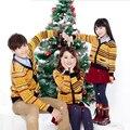 Ropa de la familia otoño invierno navidad rayas swearters a juego de la familia equipos mamá e hija padre e hijo trajes conjunto de la familia