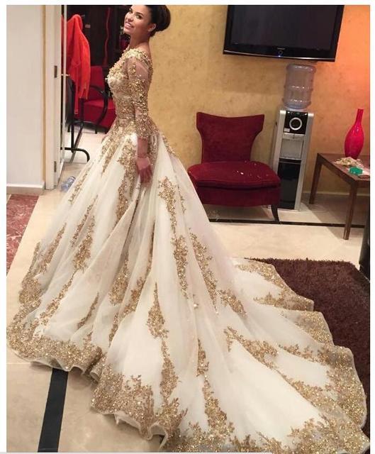Turkish Golden Elegant Long Evening Dresses For Pregnant Women ...