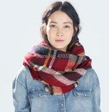 Blanket Winter Scarf, Tartan Plaid Fashion Scarf