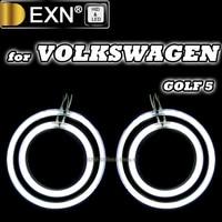 2X94mm 2X126mm DRL CCFL Angel Eyes Light Halo Rings Kits For Volkswagen Golf5 MK5 Angel Eyes Lights Conversion Kits Good Quality