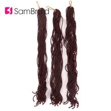 SAMBRAID 20 Inch Curly Faux Locs Crochet Hair Crochet Braid