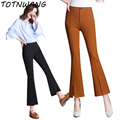 2017 Fashion New Spring Summer Women Work Business Office Pants Straight Flares Slim OL Formal Trousers For Female Black Khaki