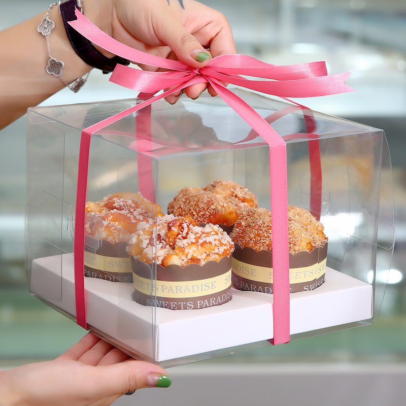 Wondrous Cupcake Boxes Pvc Transparent Cup Box For 2 4 6 12 Cupcakes Personalised Birthday Cards Arneslily Jamesorg
