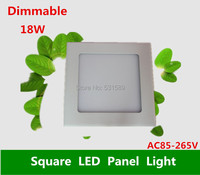 Wholesale 20pcs Warm Cool White 18W AC85 265V Brightness Adjust Dimmable Ceiling LED Panel Light With