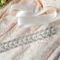 High Quality Women Fashion Designer Belts Handmade Rhinestone Bead Bride Bridesmaid Wedding Party Dress Belt Sashes