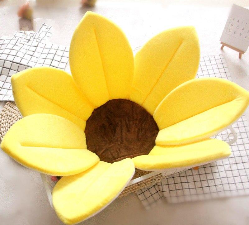 Baby Play Mat 80cm Baby Shower Petals Flower Shape Sponge Bath Mat Newborn Kid Soft Playing Mat Children Antiskid Bath Cushion