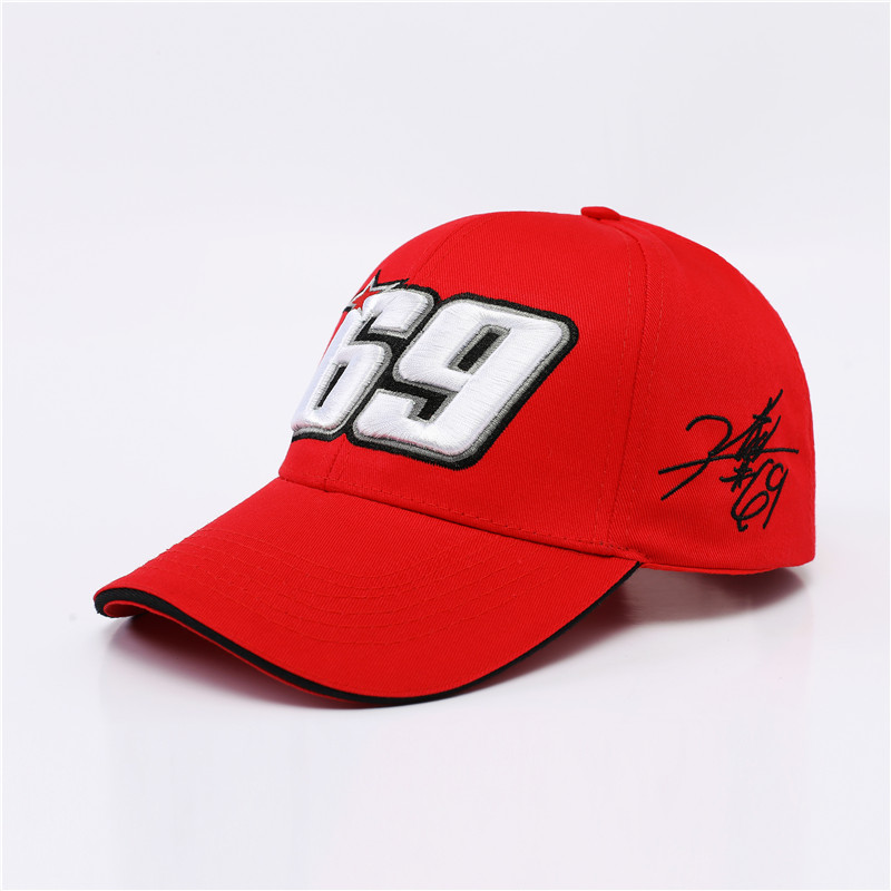 NEW Sport Cap Car Motocycle Racing hat MOTO GP Nick Heidfeld 69 Baseball Cap  Hats Red Black Baseball Hats -in Baseball Caps from Apparel Accessories on  ... 59bcfb8b78f4