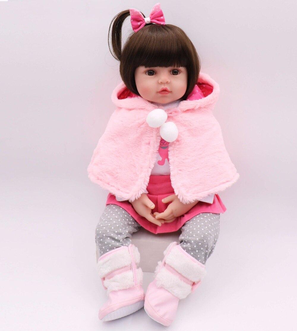 Новые 58 см силиконовые возрождается Boneca принцессы ребенок реалистично кукла подарок на день рождения Bebes Кукла реборн