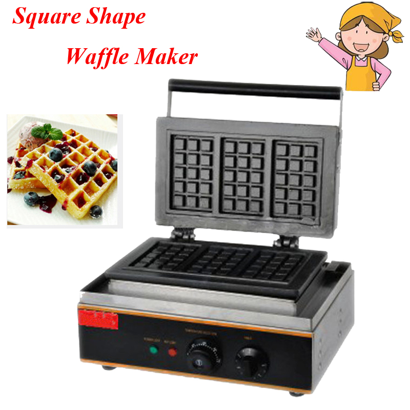 1pc Electric Waffle Maker Commercial Waffle Baker Plaid Cake Furnace Machine Heating Machine FY-115 1pc electric 220v 110v 6 hole round cake grill sweet donut maker electric for cake baker waffle maker
