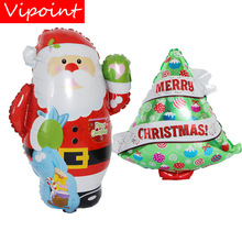 VIPOINT PARTY 73x54cm green red Santa Claus trees foil balloons wedding event christmas halloween festival birthday party HY-236