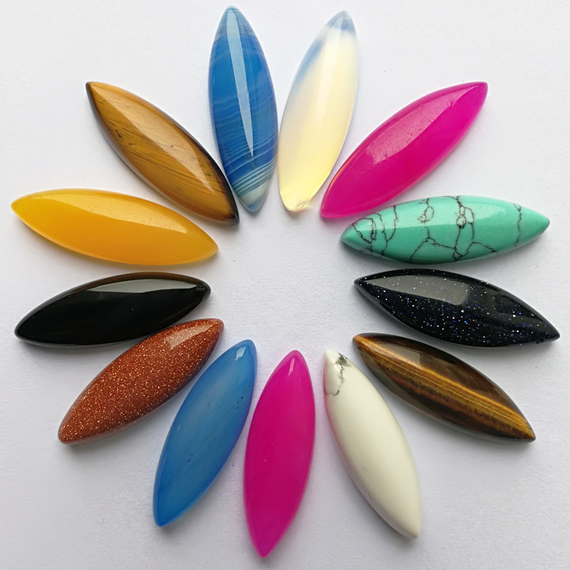 Wholesale 25*8*5mm Assorted mixed stone beads marquise shape CAB CABOCHON teardrop loose beads Free shipping 20pcs/lot