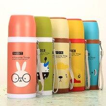 Niedlichen Cartoon Thermos Edelstahl-vakuumflasche Tasse 500 ml Candy Farbe Thermosbecher für Reisen Sport