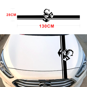 Image 5 - 130x28 CM Racing Stripes Scorpion Vinyl Decal Sticker Creative Stickers For VW Kia Hyundai BMW