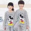 Primavera outono crianças minnie conjuntos pijamas dos desenhos animados Pijamas Crianças das Meninas Roupa do bebê Meninos Pijama Cueca 3-12 y
