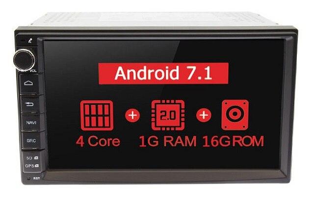 """MARUBOX 7A707,Универсальная автомагнитола 2 DIN,Универсальное головное устройство 2 din,автомобильный мультимедийный плеер, Android 7.1,Android 8.1,1024*600 HD """" ips, gps, Wi-Fi, навигация - Цвет: 1G 16GB 4 Core"""