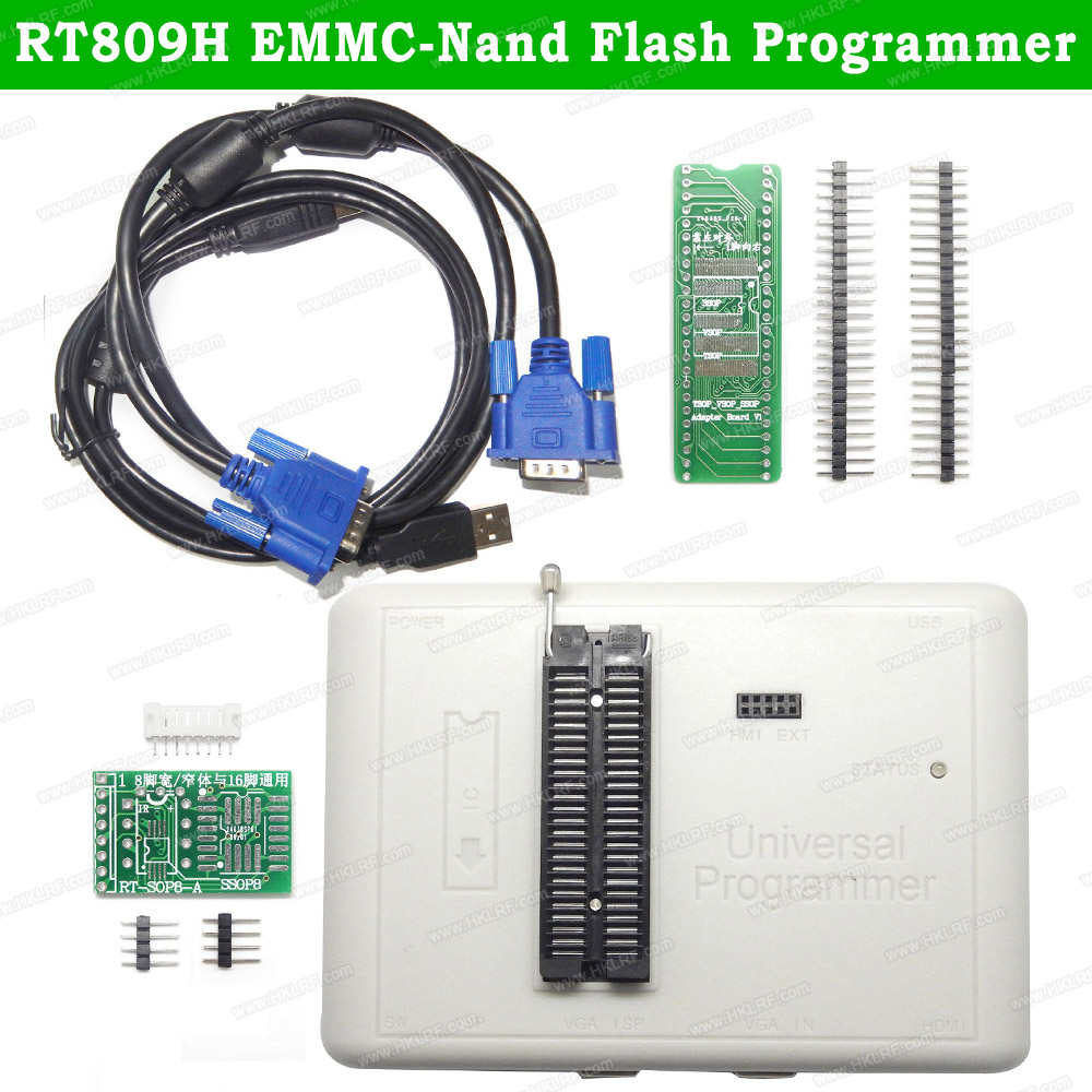 New RT809H Universal USB EEPROM Programmer Better Than RT809F TL866II Plus TL866A EMMC Nand FLASH Bios