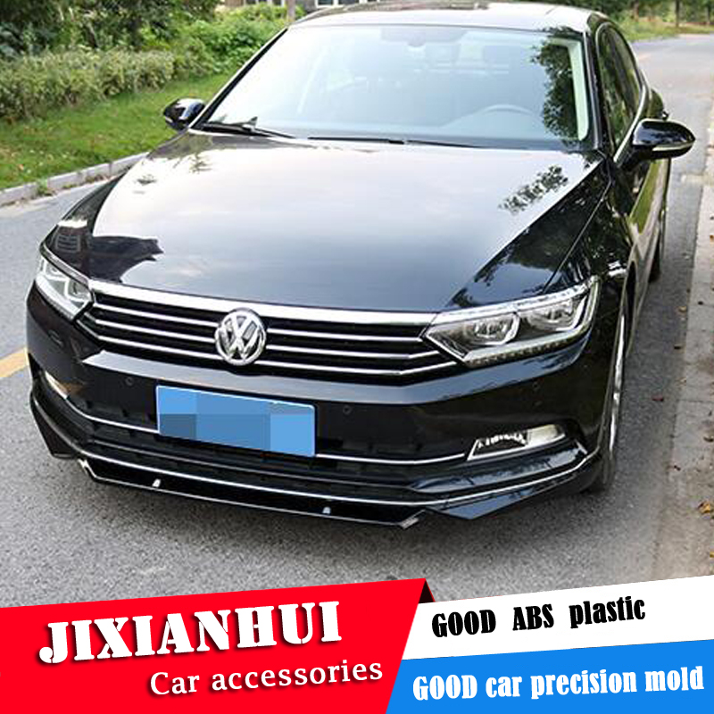 For Volkswagen Passat B8 Body kit spoiler 2017-2018 For Passat ABS Rear lip rear spoiler front Bumper Diffuser Bumpers Protector