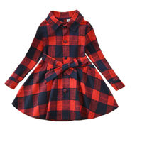 Children Clothing Manufacturers China Kids Plaid Shirt Dress 2017 New Arrivals Fashion Spring Autumn Long Sleeve Girls Outfits