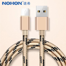 цена на NOHON Micro USB Data Cable Android For Samsung Galaxy S7 S6 Edge Huawei Xiaomi 4 Nylon Charger Sync Cables Fast Charging Cord 1M