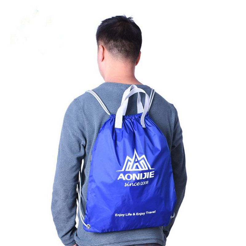 AONIJIE Outdoor Folding Sport GYM Drawstring Backpack Waterproof Nylon Training Bag Basketball Swim Pouch