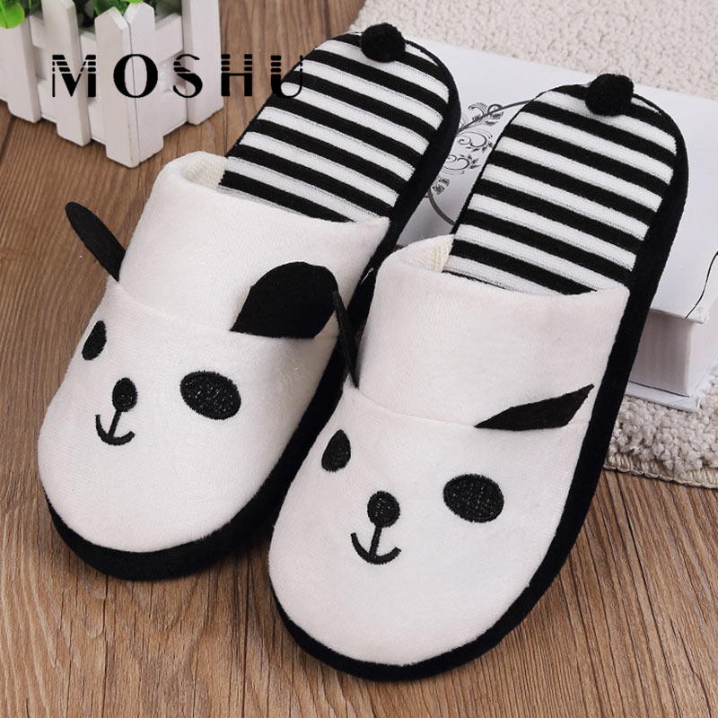 Women Cotton Warm Slippers Autumn Winter Non Slip Cute Indoor Soft Flats Shoes Furry Home Cartoon Women Emoji Plush Slippers women s winter furry slippers home non slip soft couples cotton thick bottom indoor warm rubber clogs woman shoes