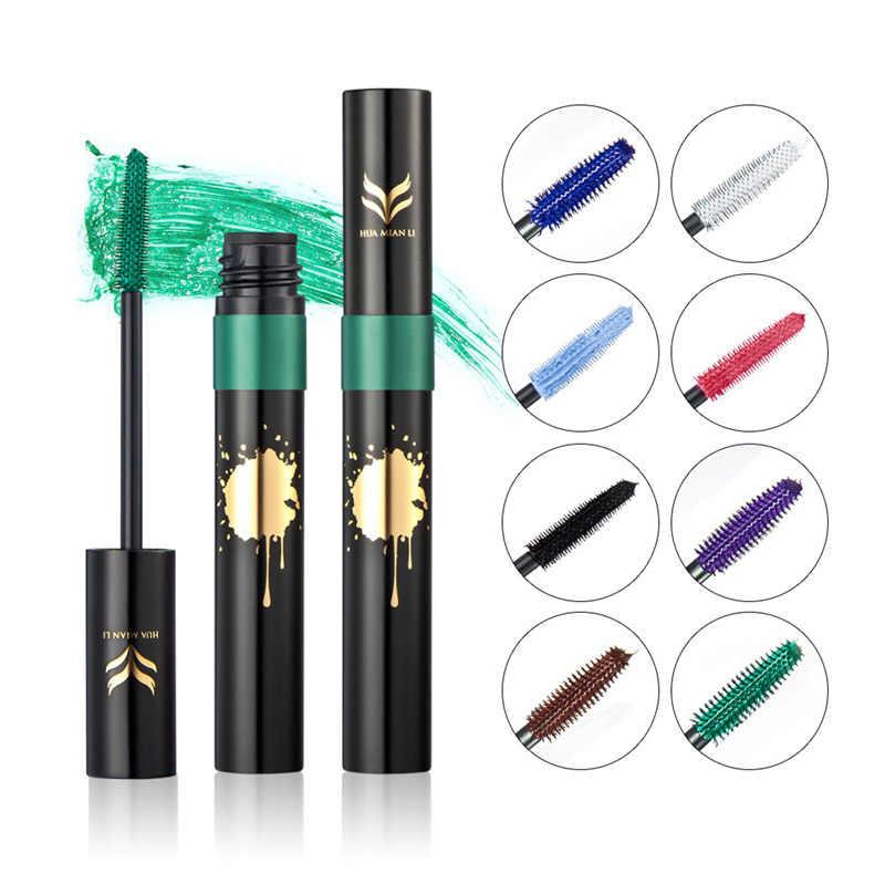 Máscara de pestañas de colores resistente al agua, máscara de pestañas belleza, herramientas de maquillaje para alargar el rizado, máscara de pestañas de secado rápido, cosmético para ojos