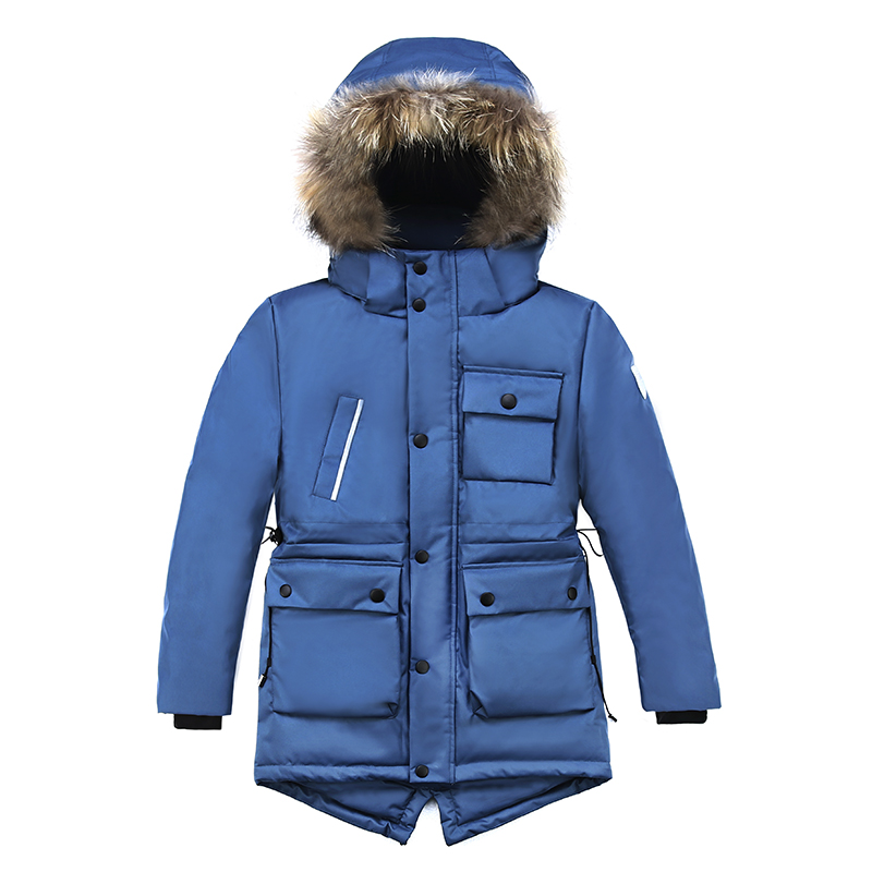 2018 High Quality Winter Coat Boys Parka Real Fur Cotton Padded Coat Winter Jacket For Boy Warm Winter Coat Boys Kids Outdoor high quality new winter jacket parka women winter coat women warm outwear thick cotton padded short jackets coat plus size 5l41