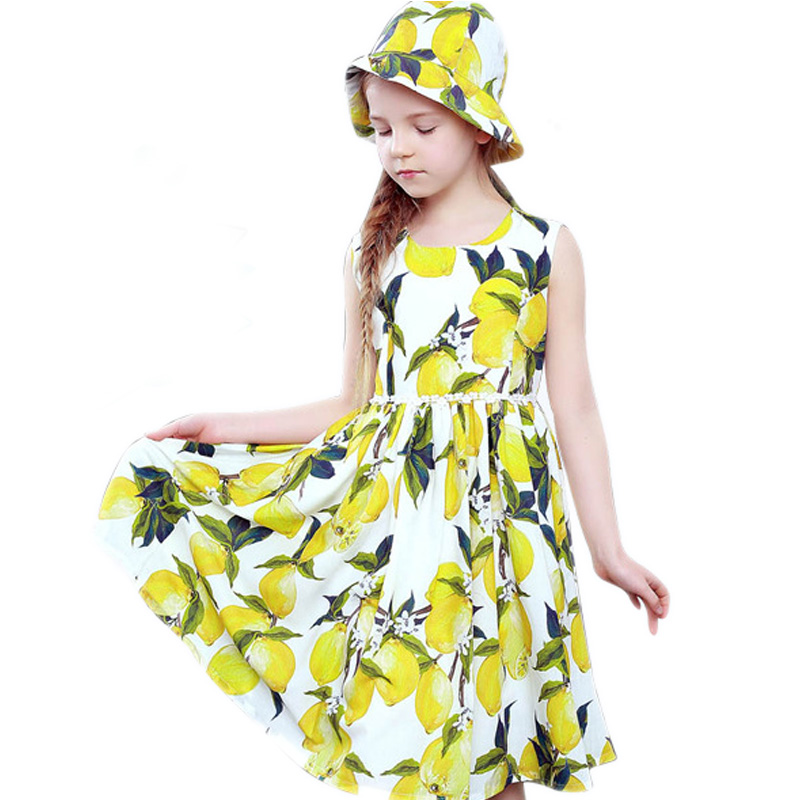 Girl Dress Summer 2017 Floral Print Kids Dresses for Girls Clothes Robe Fille Enfant Brand Cotton Long StylePrincess Dress Girl girls dresses summer 2016 brand christmas dress princess costume robe fille enfant floral print kids dresses for girls clothes