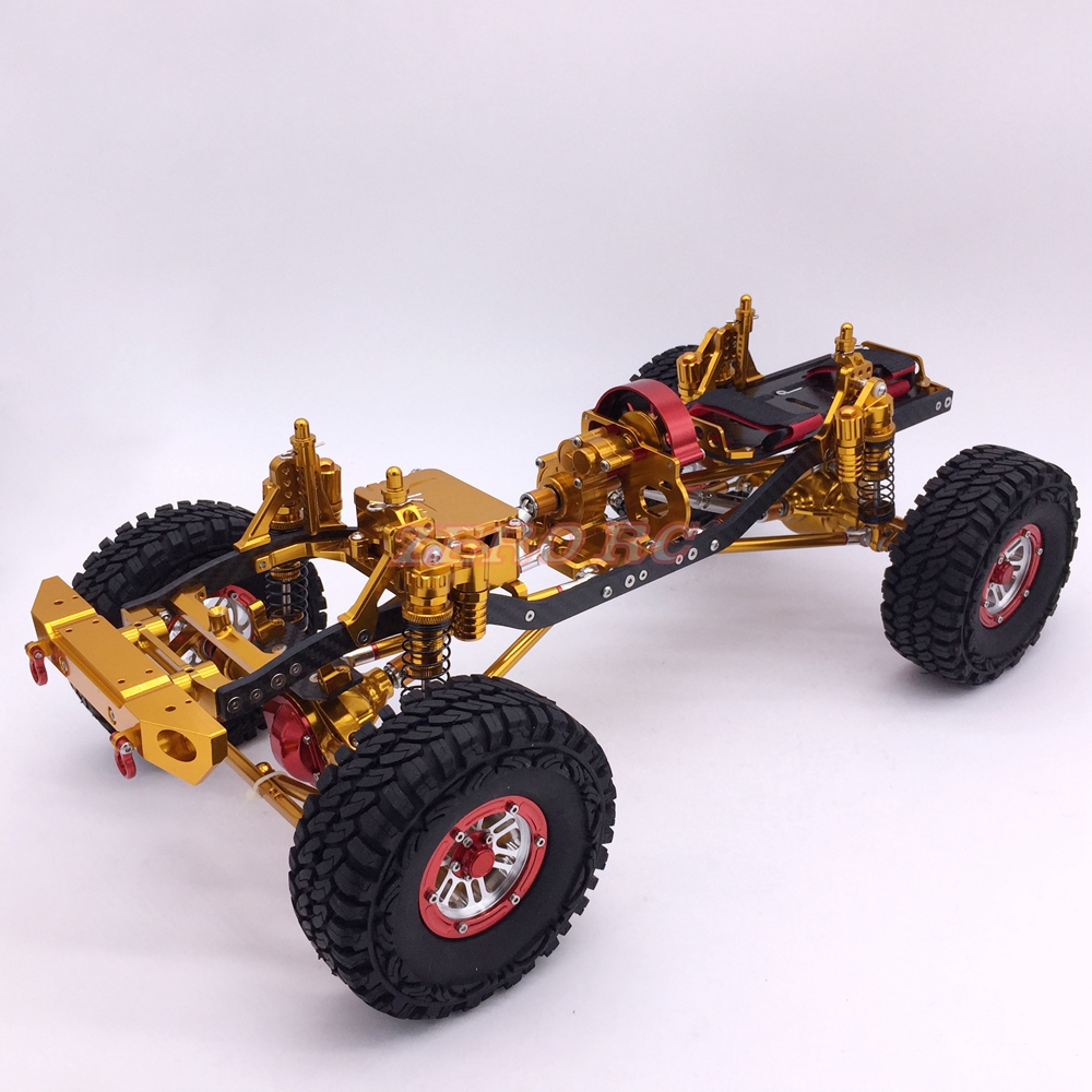 Cool Racing CNC 1 10 Scale Rock Crawler Truck Aluminum Axial SCX10 Chassis W Carbon Frame