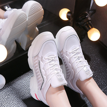Купить с кэшбэком PDMOSY Women Sneakers Breathable Mesh Casual Solid Flats Shoes For Ladies Tenis Feminino Casual Slip On Lazy Shoes For Girl