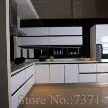 Глянцевый белый лакированный кухонный шкаф белый деревянный шкаф МДФ окрашенная мебель