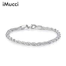 1abdca0792e9 Elegante brillante 925 joyas Chapado en joyería de pulsera de plata fina  pulseras y brazaletes de moda de calidad superior al po.