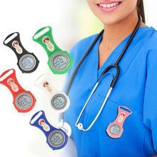 Световой Мини цифровой силиконовый календарь медсестры часы доктор Карманные Медицинские часы карманные часы Новые