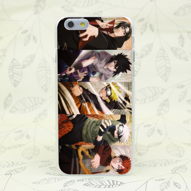 Anime Naruto Hard Transparent Case Cover for iPhone