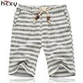 2017 Summer style Elastic Waist shorts men Loose Casual cotton Mens shorts Flax shorts male knee length beach linen shorts