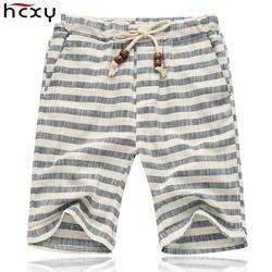 Лето 2017 г. стиль эластичный пояс шорты для женщин для мужчин Свободные Повседневное хлопковые мужские шорты льняные шорты мужской по